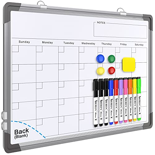 Small Monthly Calendar Dry Erase Whiteboard for Wall, 16