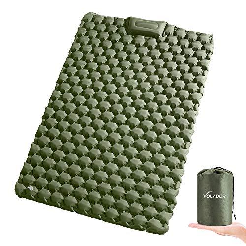 VOLADOR Widen - Colchoneta inflable doble para dormir, colchón de aire autoinflable, impermeable, ultraligero portátil para viajes, senderismo, mochilero