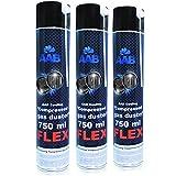 AABCOOLING Compressed Gas Duster FLEX 750ml - Conjunto de 3 - Espray Aire Comprimido con un Tubo Flexible, Spray Limpiador, Duster de Aire Comprimido, Spray Aire