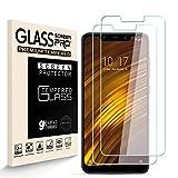 Generies HJX Protector de Pantalla para Xiaomi Pocophone F1 [2-Pack], Vidrio Templado de 9H Dureza, 2.5D Alta Definicion Sin Burbujas, Alta Sensibilidad, Xiaomi Pocophone F1 Protector de Pantalla