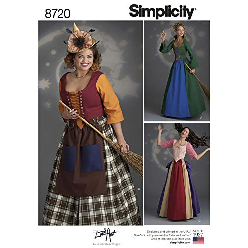 Simplicity Sewing Pattern H0189 / 8720 – Misses' Classic Costumes Witch, H5 (6-8-10-12-14)