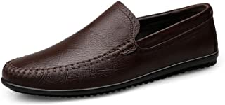 2018春秋新革靴、メンズブリティッシュビジネスカジュアルシューズ、フラットシューズ、ウォーキングドライビングシューズ、メンズファッションシューズ (Color : 褐色, Size : 44)