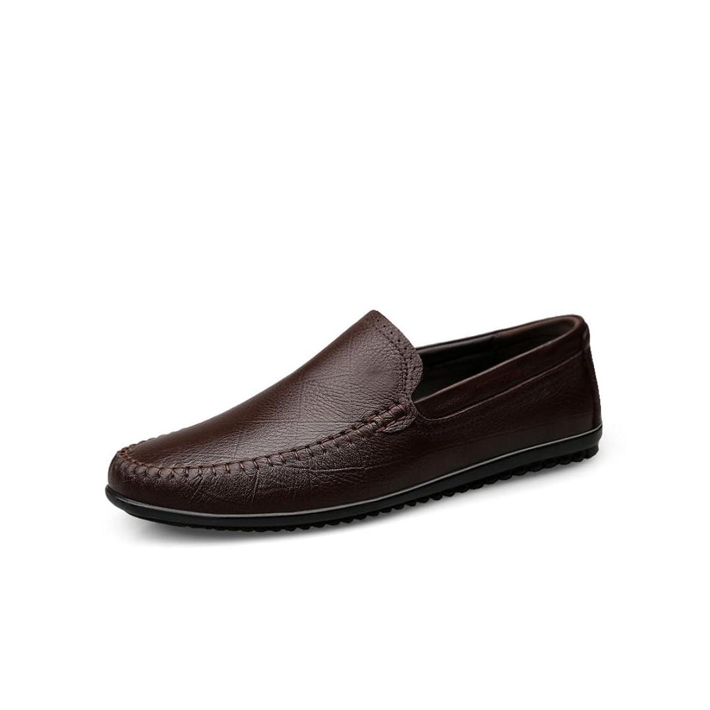 2018春秋新革靴、メンズブリティッシュビジネスカジュアルシューズ、フラットシューズ、ウォーキングドライビングシューズ、メンズファッションシューズ (Color : 褐色, Size : 40)