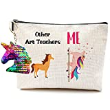 Art Teacher Gifts Art Teacher Appreciation Gift Bags- Other Art Teacher Unicorn Me Teacher Survival Kit Bag Art Gifts Makeup Bag for Women Art Bag Art Teacher Gifts for Women