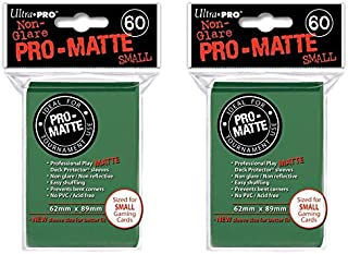 Ultra Pro Green Small Pro-Matte Deck Protectors Sleeves Colors Yugioh Vanguard [2 Pack of 60]