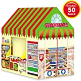 Liberty Imports Kids Themed Play Tent with 50 Balls Included - Indoor Outdoor Children Playhouse Toy for Toddlers, Boys and Girls (Supermarket)