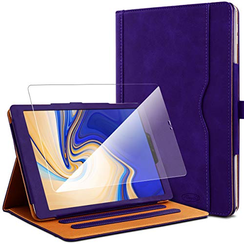 KARYLAX Pack of Protective Case Purple + 1 Tempered Glass Screen Protector for Samsung Galaxy Tab S4 10.5 SM-T830