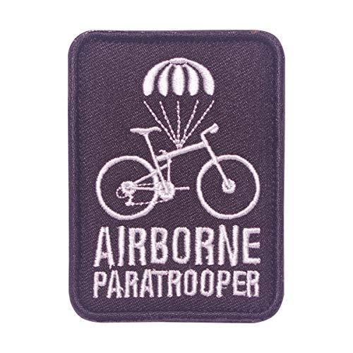 Cobra Tactical Solutions Airborne Paratrooper Parche bordado negro con gancho y bucle para airsoft