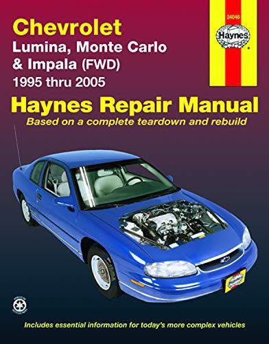 Chevrolet Lumina, Monte Carlo & Front-Wheel Drive Impala Automotive Repair Manual