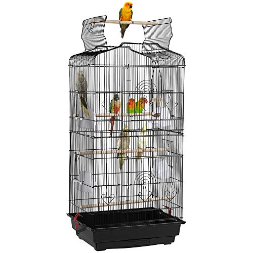 YAHEETECH 36-inch Open Top Hanging Medium Parakeet Bird Cages for Parakeets Finches Canaries...