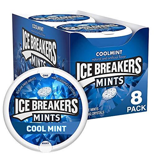 Ice Breakers Mints Cool Mint - Pfefferminz Bonbons, 1 Stück (8 x 42 g)
