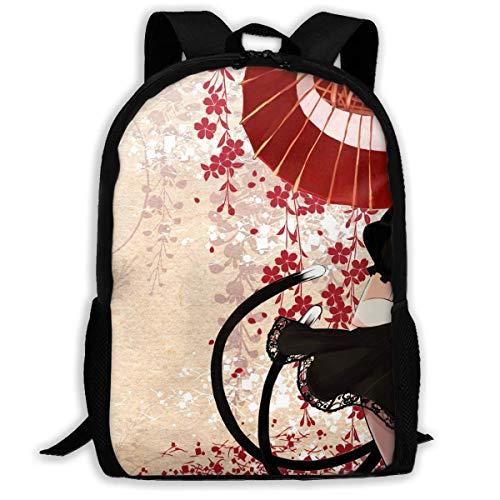 hengshiqi Mochila Backpack, Travel Backpack Laptop Backpack Large Diaper Bag - Anime Girl Dress Black Hair Backpack School Backpack for Women & Men