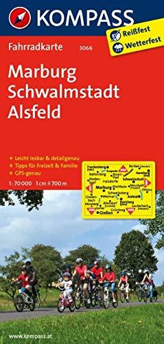 KOMPASS Fahrradkarte Marburg - Schwalmstadt - Alsfeld: Fahrradkarte. GPS-genau. 1:70000 (KOMPASS-Fahrradkarten Deutschland, Band 3066)