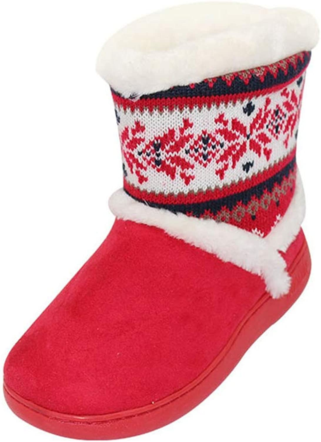 ASO-SLING Women's Memory Foam Sweater Knit Pom Fuzzy Bootie Slippers Soft Breathable Comfy Plush