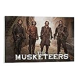 1 póster decorativo de la película de la televisión de The Musketeers para pared de la sala de estar o dormitorio, 20 x 30 cm
