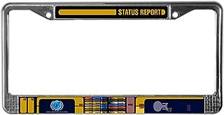 CafePress Star Trek LCARS Status Report Chrome License Plate Frame, License Tag Holder