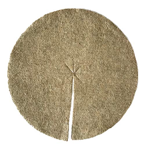 Disque de paillage en fibres de chanvre, mulch-disk, 10 pièces, diamètre : 60 cm, 10 mm d'épaisseur, tapis de protection des plantes, tapis de protection contre les mauvaises herbes, tapis de protection pour l'hiver, 100 % biodégradable, fabriqué à partir d'une matière première renouvelable, écologique et locale, convient aux parterres et pots de fleurs