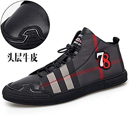 LOVDRAM Chaussures en Cuir pour Hommes Hiver Nouveaux Chaussures Homme Cuir Chaussures Décontractées Chaussures à voiturereaux Sauvages Bottes Chaudes Et Courtes