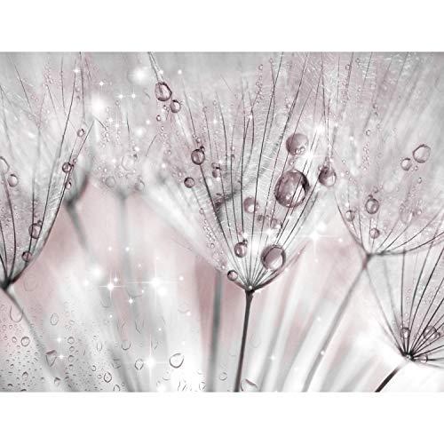 Fototapete Blumen Pusteblume 396 x 280 cm - Vlies Wand Tapete Wohnzimmer Schlafzimmer Büro Flur Dekoration Wandbilder XXL Moderne Wanddeko - 100% MADE IN GERMANY - 9436012a