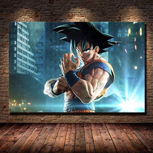 Bvlglp 5D DIY「Anime Goku Painting」Pintura Diamante Completo Arte,Diamantes imitación Bordado Pegatinas de Pared,decoración de la Sala murales pegados por número -40x60cm