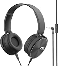 AXL AHP 02 Wired Stereo On Ear Headphones with 90 Degree Rotatable with in Line Microphone HD Sound Comfortable with 1M Cable Black