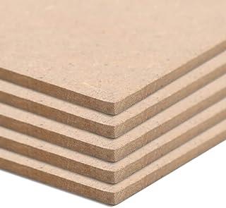 Festnight Tablero MDF Cuadradas Ideal para Molduras Arquitectónicas, Armarios, Estantes, Paneles y Casas de Muñecas 5 Unidades 120x60 cm 2,5 mm