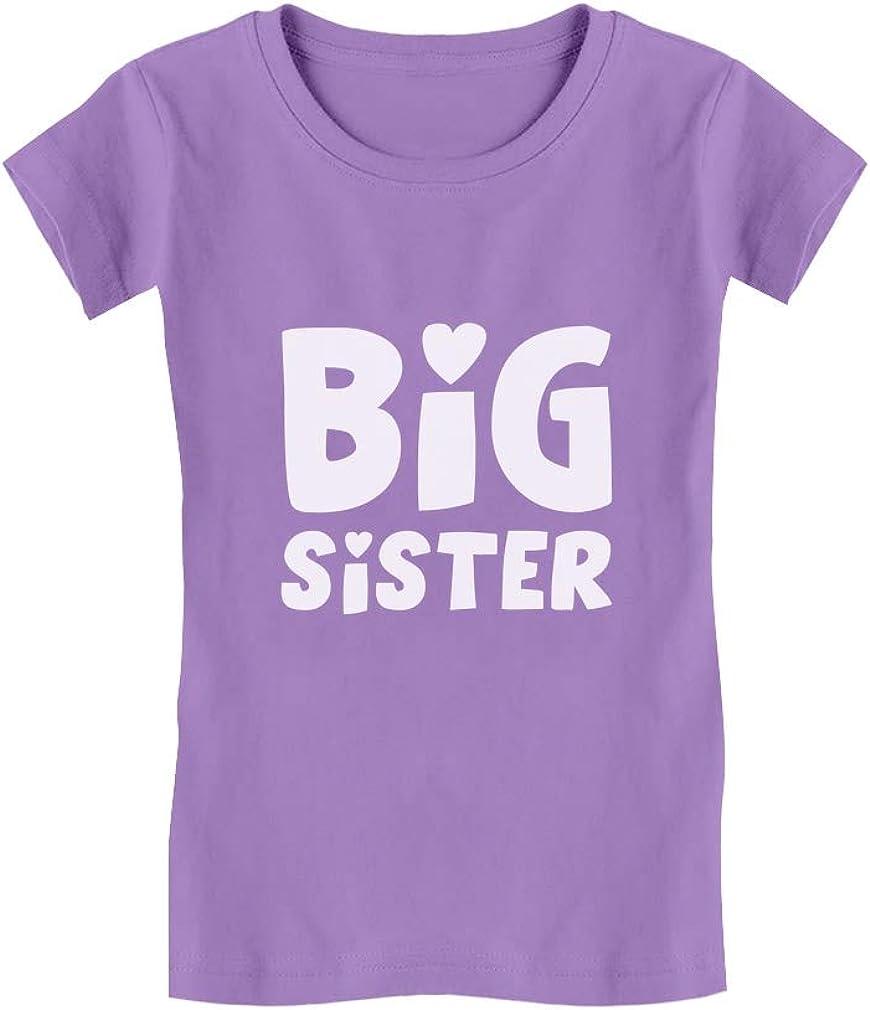 Big Sister - Elder Sibling Gift Idea Cute Toddler/Kids Girls' Fitted T-Shirt