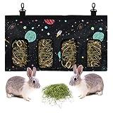 Fmlkic Bolsa Heno de Conejo, Comedero de Heno para Mascotas Bolsa de Heno Alimentador Colgante Saco para Conejillo de Indias Chinchilla Hamsters Animales Pequeños
