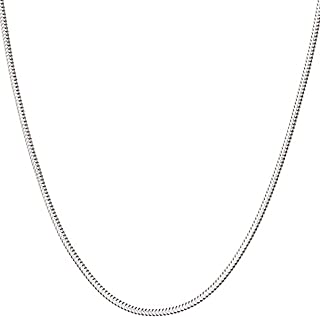 Italian Fashions 925 Sterling Silver Italian 1mm,1.2mm Snake Chain Crafted Necklace Thin Lightweight Strong - Lobster Claw Clasp With Extra Clasp