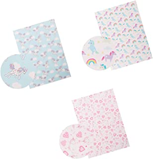 3pcs Unicorn Rainbow Heart Printed Canvas Sheets Solid Faux Leather Fabric Sheets 9