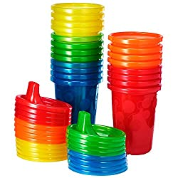 powerful An economical set of spill-proof drinking cups for the first few years, a rainbow, 20 pieces.