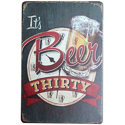 kentop Cartel de chapa retro cerveza metal Pintura Publicidad Pared Cartel para Pub Bar Coffee Shop Principal Pared Decoración