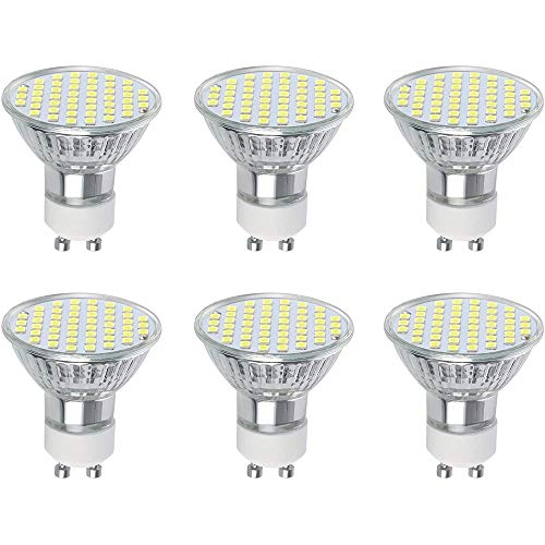 Vicloon GU10 LED Lampe, GU10 Leuchtmittel 3W, 300 Lumen, 6500 Kelvin, AC220-240V, Weißes Licht GU10 Ersetzt 30W Halogenlampen, 120°Strahlwinkel Nicht Dimmbar GU10 Glühbirne, 6er-Pack