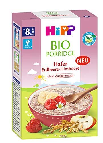Hipp Porrdige havermout frambozen, 2 x 250 g