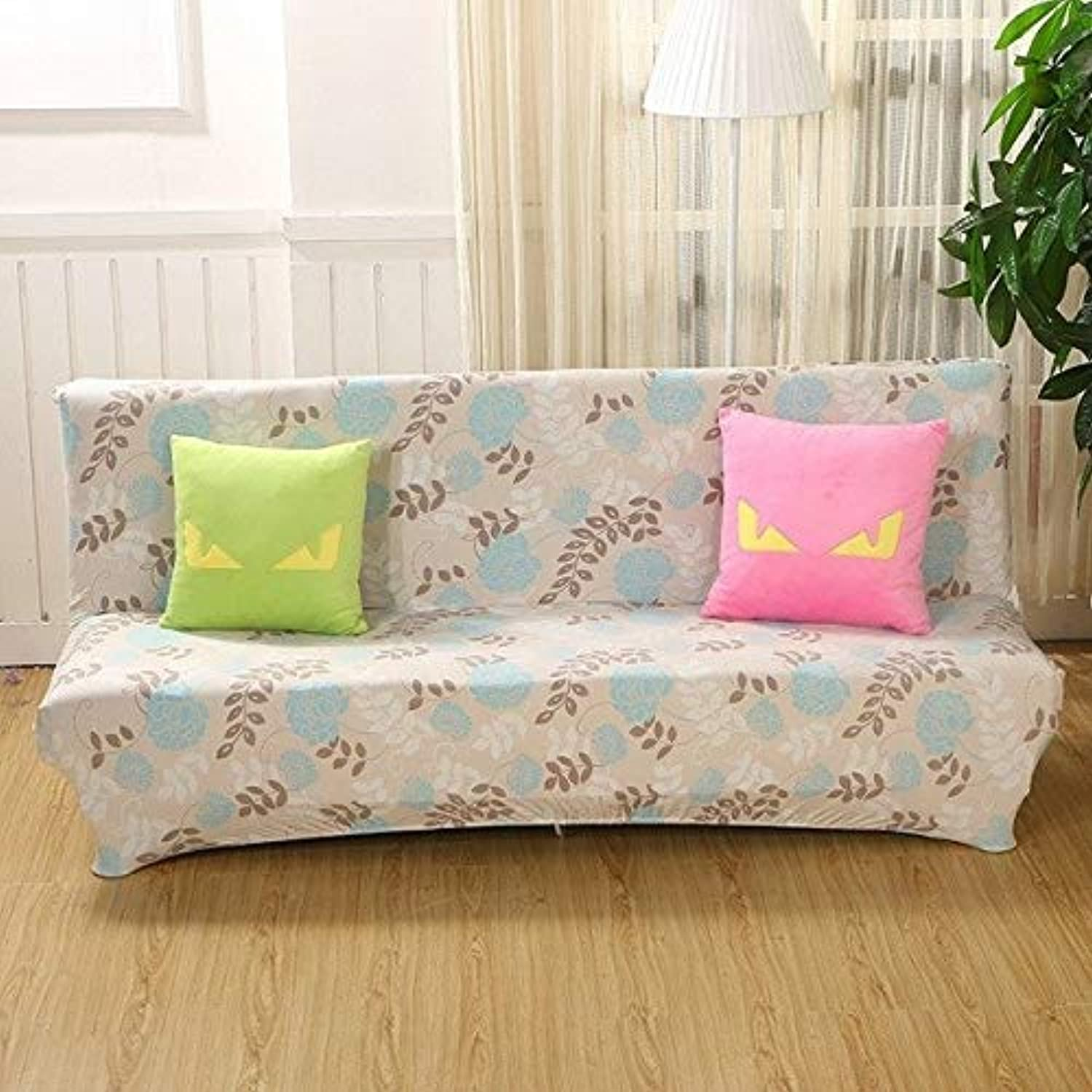 Farmerly Sofa Cover Elastic Sofa Bed Cover All-Inclusive Slipcover for Sofa Without Armrest No Handrail Cover Size 160-210cm   07, 160 to 195cm