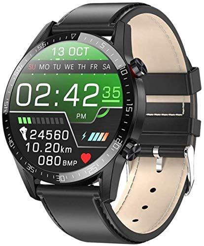 Reloj inteligente Ip68 impermeable Bluetooth pulsera inteligente ECG+PPG frecuencia cardíaca reloj inteligente inteligente para Android 5.0 y superior e iOS 8.0 y superior uso diario