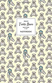Teddy Bears Notebook - Ruled Pages - 5x8 - Premium: (Yellow Edition) Fun notebook 96 ruled/lined pages (5x8 inches / 12.7x...