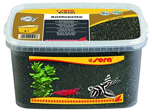sera 32268 Gravel Anthracite durchmesser 1 - 3 mm, 6 l, Anthrazit