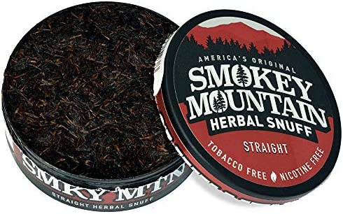 Smokey Mountain Herbal Snuff - Wintergreen - 1-Can - Nicotine-Free and Tobacco-Free