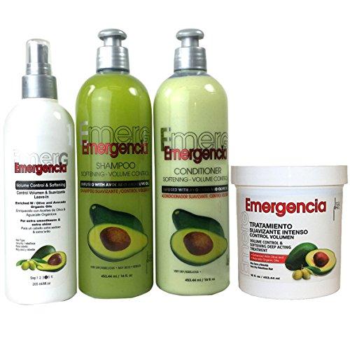 Toque Magico Emergencia Set 4 pack Avocado Shampoo, Rinse, Treatment, Leave-In