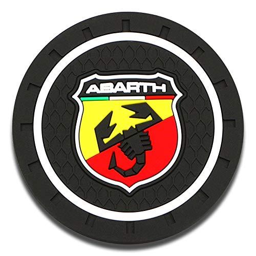 MJZYP 1 / 2pc Coche Interior Alfombra Agua Coaster Silicone Pad Pad Anti-Sucio para Fiat Viaggio Abarth Punto 124 125 500 Stillo Ducato Palio (Color Name : 1pcs Abarth)
