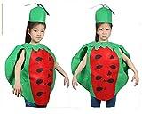Matissa Niños Frutas Verduras y Trajes de la Naturaleza Trajes Fiesta de Disfraces Niños y niñas (Sandía)