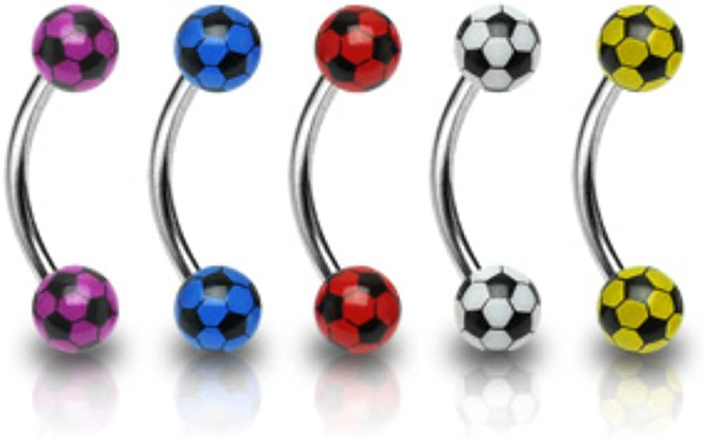 4mm Soccer WildKlass Balls 316L Surgical Steel 16ga Eyebrow (Sold by Piece)