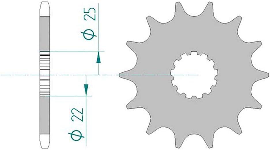 Set catena AFAM 520XSR-G adatto per ER-6N ABS ER650CD 2009-2011