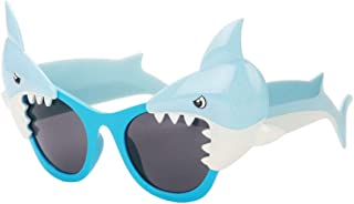 Fashion Perfect Party Favor Glasses Party Accessory Cartoon Shark Fanci-Frame Adult Kids Party Sunglasses Retro (Color : Blue)