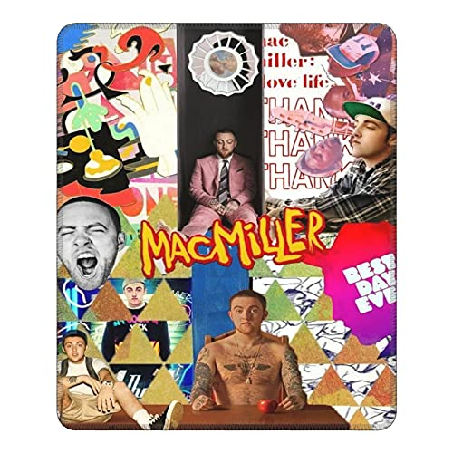 Ma-c Mi-ller Mouse Pad, Stitched Edges Gaming Mousepad Large, Anti-Slip Rubber Base Computer Keyboard Pad Mat, 9.8 x 11.8 in