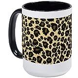 Tazza grande con stampa leopardata Tazza da caffè Tazza da caffè bianca grande