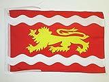 AZ FLAG Bandera de Lot Y GARONA 45x30cm - BANDERINA Departamento DE Lot Y GARONA - Francia 30 x 45 cm cordeles