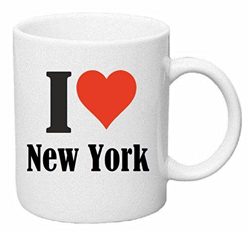taza para café I Love New York Cerámica Altura 9.5 cm diámetro de 8 cm de Blanco