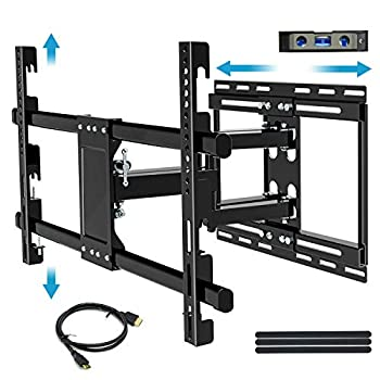 BLUE STONE Tilt TV Wall Mount Bracket for Most 32-83 Inch TVs Full Motion Swivel Articulating Arm Mounting Up to 99lbs Low Profile LED OLED Flat Screen Curved TV Sliding & Hight Adjustment Design